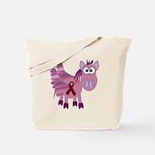 Burgundy Awareness Ribbon Pegasus Tote Bag