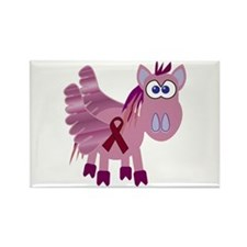 Burgundy Awareness Ribbon Pegasus Rectangle Magnet