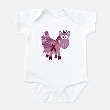 Burgundy Awareness Ribbon Pegasus Infant Bodysuit