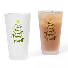 Weiner Dog Dachshund Christmas Drinking Glass