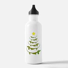 Weiner Dog Dachshund Christmas Water Bottle