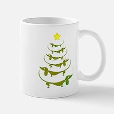Weiner Dog Dachshund Christmas Mugs