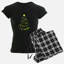 Weiner Dog Dachshund Christmas Pajamas