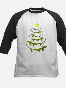 Weiner Dog Dachshund Christmas Baseball Jersey