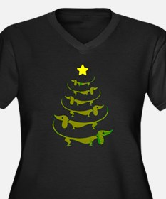 Weiner Dog Dachshund Christmas Plus Size T-Shirt