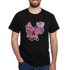Burgundy Awareness Ribbon Pegasus T-Shirt