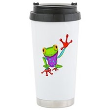 Waving Poison Dart Frog Travel Mug