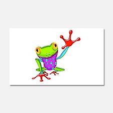 Waving Poison Dart Frog Car Magnet 20 x 12