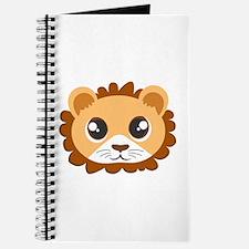 Cute Cartoon Lion Head Journal