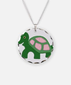 Tiny Pink Girl Turtle Necklace