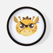 Cute Giraffe Head Cartoon Wall Clock