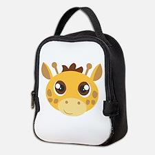 Cute Giraffe Head Cartoon Neoprene Lunch Bag