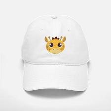 Cute Giraffe Head Cartoon Baseball Baseball Cap