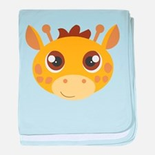 Cute Giraffe Head Cartoon baby blanket