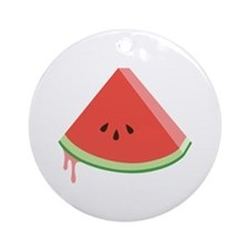Juicy Watermelon Ornament (Round)