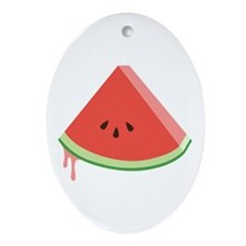 Juicy Watermelon Ornament (Oval)