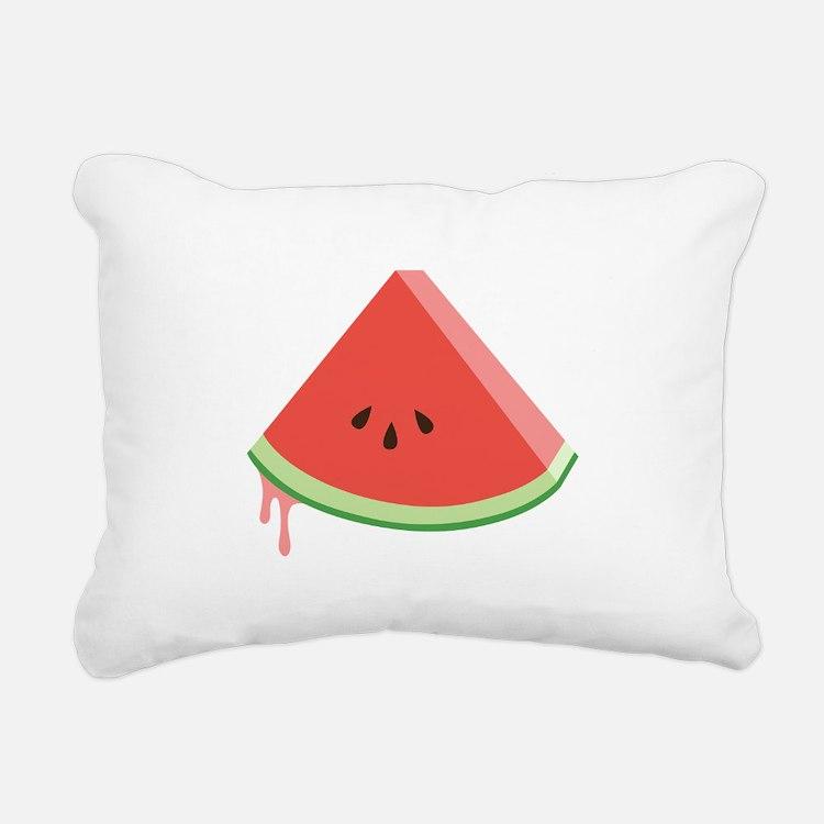 Juicy Watermelon Rectangular Canvas Pillow