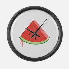 Juicy Watermelon Large Wall Clock