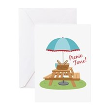 Picnic Time Table Greeting Cards