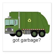 """Got Garbage? Square Car Magnet 3"""" x 3"""""""