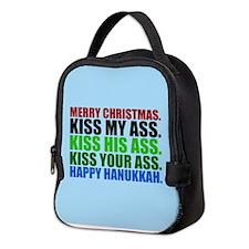 Merry Christmas Kiss Neoprene Lunch Bag