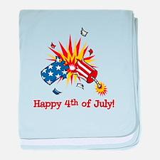 Firecracker 4th of July baby blanket