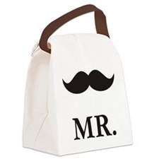 Mr. Moustache Canvas Lunch Bag
