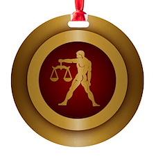 Libra Gold Ornament