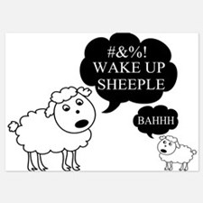 Sheep Says Wake Up Sheeple Invitations