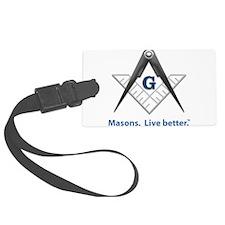 Cute Masonic Luggage Tag