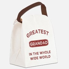 Greatest Grandad In The World Canvas Lunch Bag