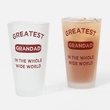 Greatest Grandad In The World Drinking Glass