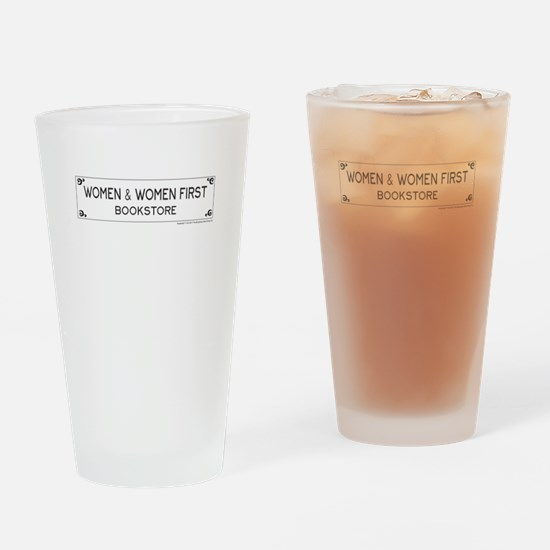 Women and Women First Bookstore Drinking Glass
