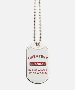 Greatest Grandad In The World Dog Tags