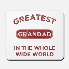 Greatest Grandad In The World Mousepad