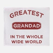 Greatest Grandad In The World Throw Blanket
