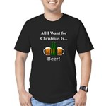 Christmas Beer Men's Fitted T-Shirt (dark)