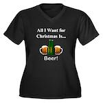 Christmas Be Women's Plus Size V-Neck Dark T-Shirt