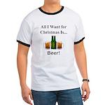 Christmas Beer Ringer T