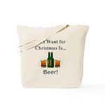 Christmas Beer Tote Bag