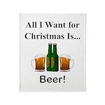 Christmas Beer Throw Blanket