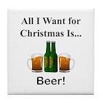 Christmas Beer Tile Coaster