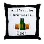Christmas Beer Throw Pillow