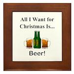 Christmas Beer Framed Tile
