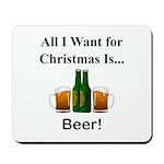Christmas Beer Mousepad