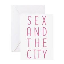 Sex And The City Cute Pink Text Greeting Cards