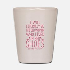 Carrie Shoe Quote Sex And The City Shot Glass