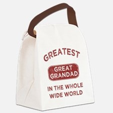 Greatest Great Grandad In The Wor Canvas Lunch Bag