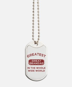 Greatest Great Grandad In The World Dog Tags