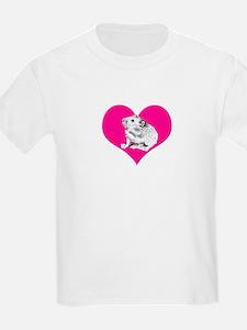 T-Shirt Heart & Hamster design